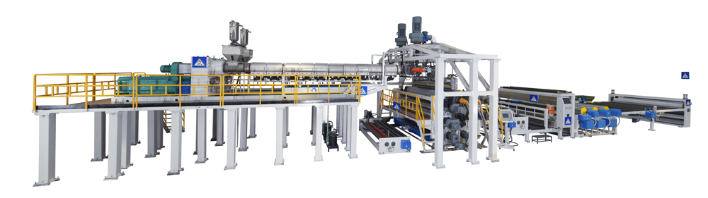 TPO waterproof coil production line